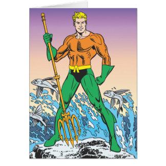 Aquamanはやりによって立ちます グリーティングカード