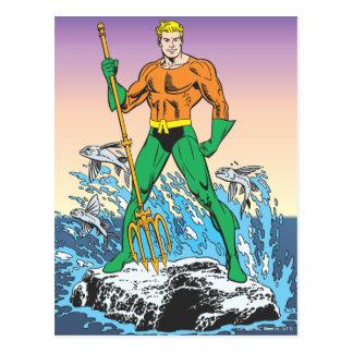 Aquamanはやりによって立ちます ポストカード