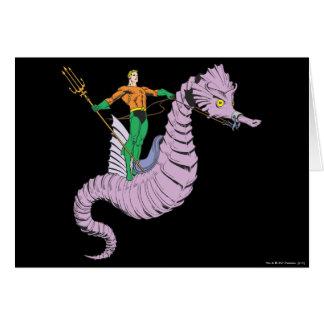 Aquamanはタツノオトシゴに乗ります グリーティングカード