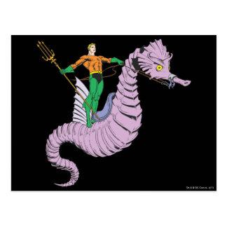 Aquamanはタツノオトシゴに乗ります ポストカード