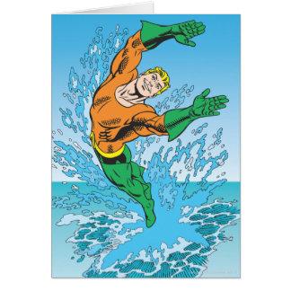 Aquamanは海の素早く書き留めます グリーティングカード