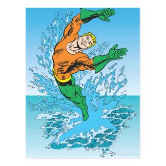 Aquamanは海の素早く書き留めます ポストカード