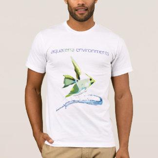 AquaTerraの環境の様式化されたAngelfish Tシャツ