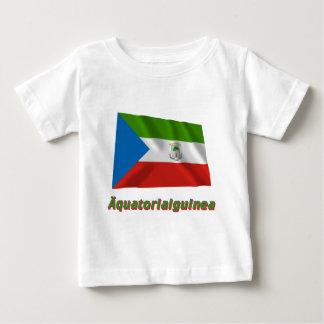 Äquatorialguinea Fliegende Flaggeのdeutscherの名前 ベビーTシャツ