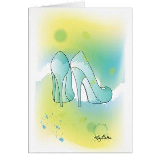 AquqBellaの挨拶状-靴 グリーティングカード