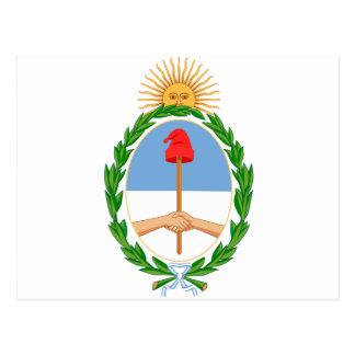 ARアルゼンチンの紋章付き外衣 ポストカード