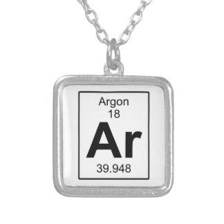 Ar -アルゴン シルバープレートネックレス