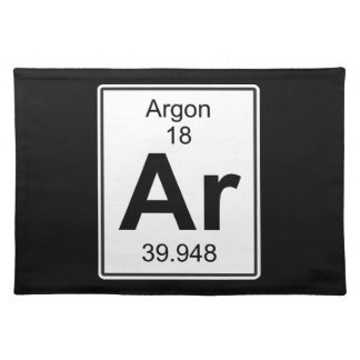 Ar -アルゴン ランチョンマット