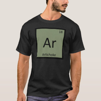 Ar -アーティチョークの野菜化学周期表 tシャツ