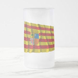Aragónの振る旗 フロストグラスビールジョッキ