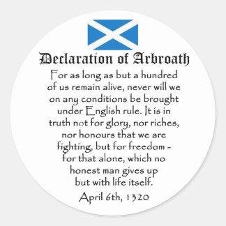 Arbroathのスコットランド人の独立の宣言 ラウンドシール