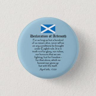 Arbroathのスコットランド人の独立の宣言 缶バッジ
