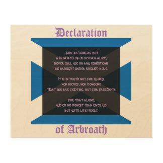 Arbroathの宣言: スコットランドの独立誓約 ウッドウォールアート