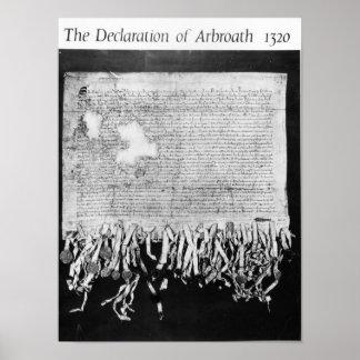 Arbroathの宣言、1320年4月6日 ポスター