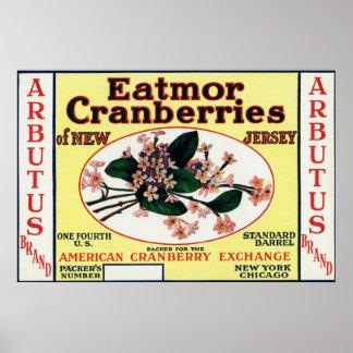 ArbutusのEatmorのクランベリーのブランド ポスター
