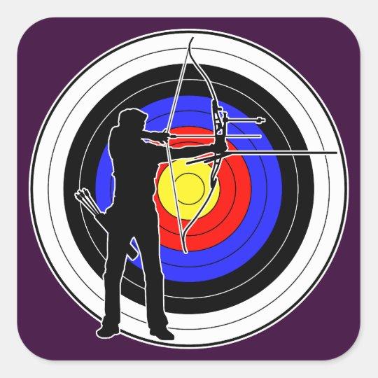 Archery & target 01 スクエアシール