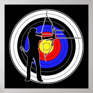 Archery & target 01 ポスター