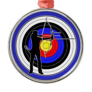 Archery & target 01 クリスマスツリーオーナメント