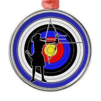 Archery & target 02 クリスマスオーナメント