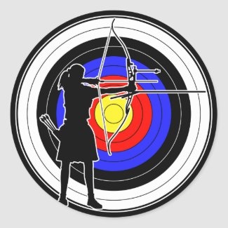 Archery & target 02 シール