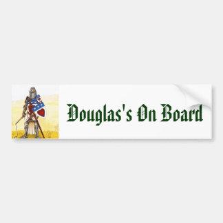 Archie3、ダグラス船上に バンパーステッカー