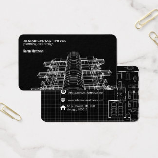 architect designer plans business card 名刺