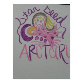Arcturian Starseedの軽い言語記号 ポストカード