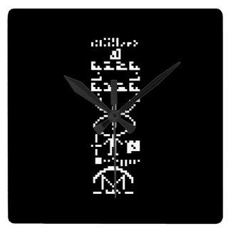 Areciboの二進メッセージ1974年 スクエア壁時計