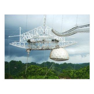 Areciboの電波望遠鏡、プエルトリコ ポストカード