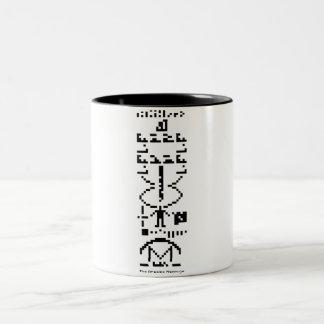 Areciboメッセージのマグのギフト ツートーンマグカップ
