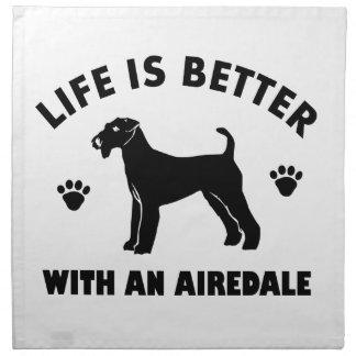aredaleテリア犬のデザイン ナプキンクロス