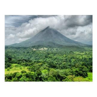 Arenalの火山-コスタリカ ポストカード