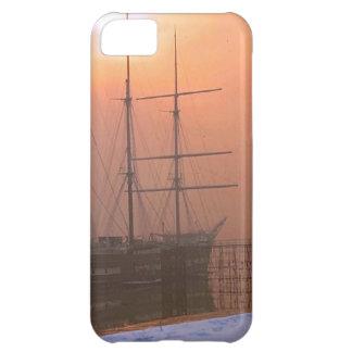 Arethusaの日没および雪 iPhone5Cケース