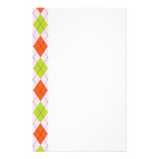 [ARG-GR-OR-1]緑およびオレンジアーガイル 便箋