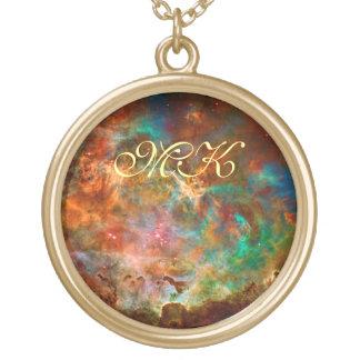 Argo Navisの星座のカリーナの星雲 ゴールドプレートネックレス