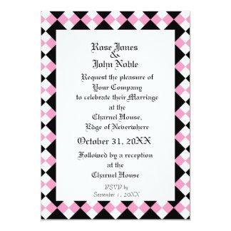 ArgyllのアイボリーXIの(ピンクの)結婚式招待状 カード