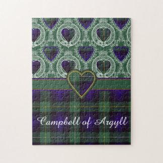Argyllの一族の格子縞のスコットランド人のタータンチェックのキャンベル ジグソーパズル