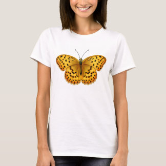 ArgynnisのFritillaryの蝶ベビードールのワイシャツ Tシャツ