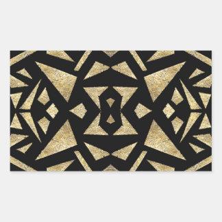 Ariの金ゴールドおよび黒 長方形シール