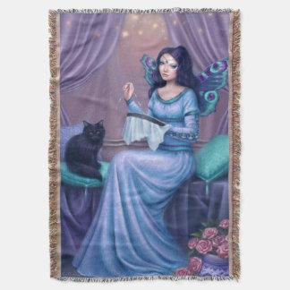 Ariadneの孔雀蝶妖精のブランケット スローブランケット
