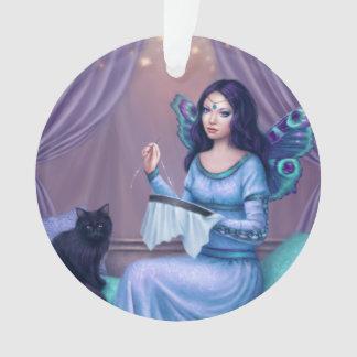 Ariadneの孔雀蝶妖精の円形のオーナメント オーナメント