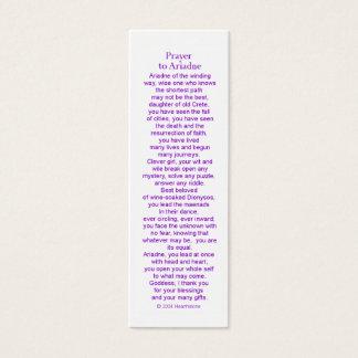 Ariadneの祈りの言葉カード スキニー名刺