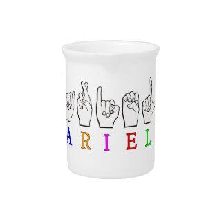 ARIEL FINGERSPELLED ASLの一流の印 ピッチャー