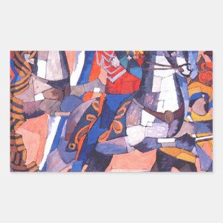 Aristarkh Lentulov著勝利の戦い 長方形シール