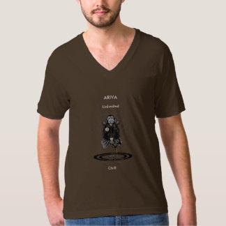 ARIVAの無制限の冷たい(茶色の) V首 Tシャツ