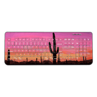 Arizona Sunset Saguaro Cactus Desert Keyboard ワイヤレスキーボード