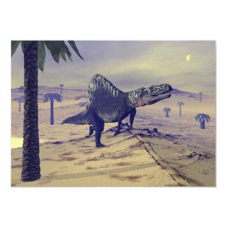 Arizonasaurusの恐竜- 3Dは描写します 12.7 X 17.8 インビテーションカード