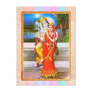 ArjunaへのGITAの福音のKRISHNA キャンバスプリント