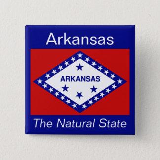 Arkansanの旗ボタン 缶バッジ