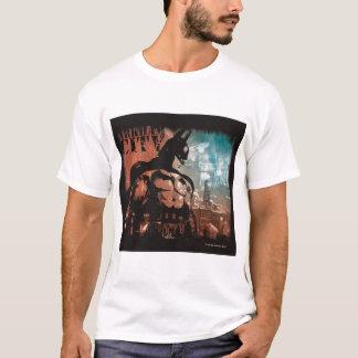 Arkham都市バットマンの混合メディア Tシャツ